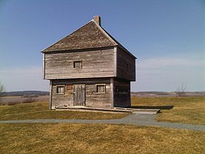 Blockhouse - Completed in 1750, Fort Edward in Nova Scotia, Canada is the oldest remaining military blockhouse in North America.