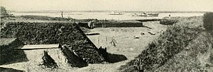 Battle of Fort McAllister (1863) - Image: Fort Mc Allister View