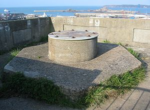 Fort Regent - One of the gun emplacements dating from the occupation
