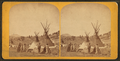 Fort Stambaugh, Wyoming near Sweetwater River, 1870; Shoshoni Chief Washakie's camp, by Jackson, William Henry, 1843-1942.png