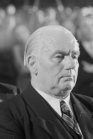 Leadership of East Germany - Image: Fotothek df roe neg 0002793 004 Portrait Wilhelm Piecks im Publikum der Bachfeier
