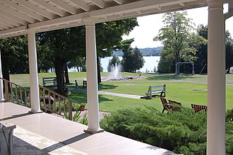 National Register of Historic Places listings in Leelanau County, Michigan - Image: Fountain Point porch 2 2010