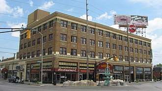 Indianapolis Cultural Districts - Fountain Square Theatre Building in 2011.