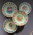 Four plates, Hungary, Murany, late 1800s, ceramic - Museum of Anthropology, University of British Columbia - DSC08783.jpg