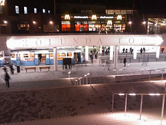 Frölunda Torg - The new tram-station, opened in 2008.
