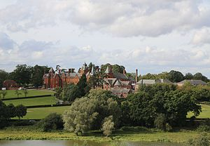 Framlingham College - view of the school from the nearby Framlingham Castle