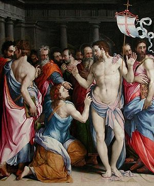Francesco de' Rossi's painting 'The Doubting o...
