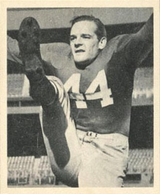 Frank Reagan - Reagan on a 1948 Bowman football card