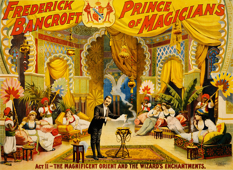 File:Frederick Bancroft, prince of magicians, the wizard's enchantments, performing arts poster, 1895.jpg