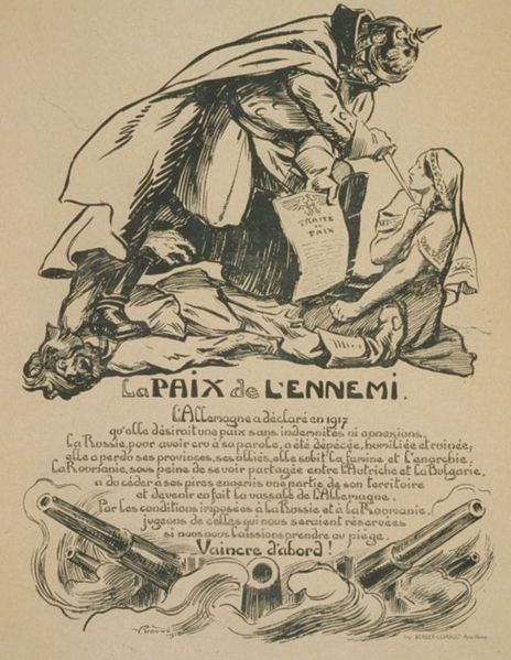 Fájl:French caricature on the Romanian-German Peace Treaty.jpg