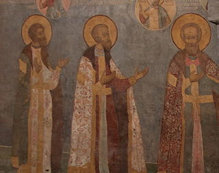 Frescos in Cathedral of the Archangel in Moscow - north wall 01.jpg