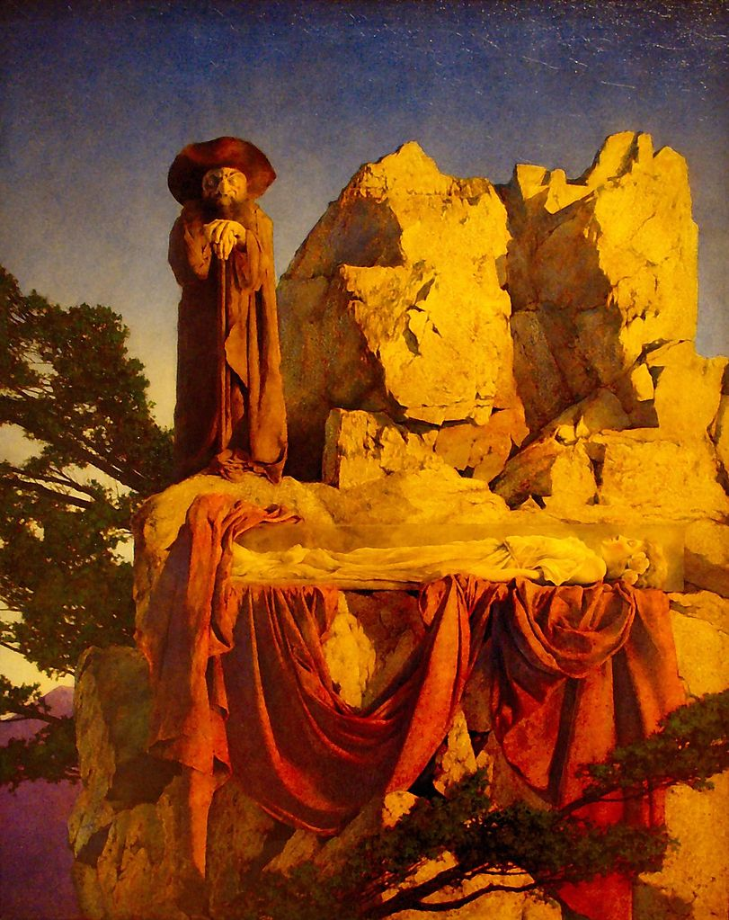 file from the story of snow white maxfield parrish 1912. Black Bedroom Furniture Sets. Home Design Ideas