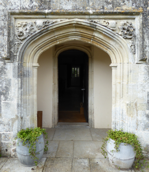 Mohuns Ottery - Front entrance, Mohun's Ottery, with re-used Tudor doorway from former mansion