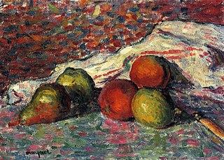 Fruit, Knife and Napkin