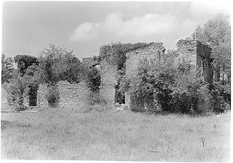 Fort Washita - West barracks in 1975