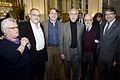 Futoransky, Giardinelli, Forster, Goloboff, Divinsky y Hamawi en la inauguración de Tierra de Luz. Una muestra que celebra la cultura y solidaridad franco-argentina (13278474433).jpg