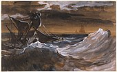 Géricault - Sailboat on a Raging Sea, about 1818–1819.jpg