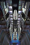GSLV F11 GSAT-7A campaign- Vehicle roll out 06.jpg