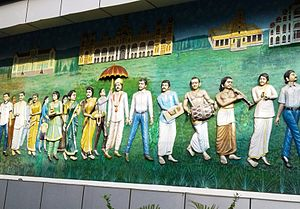 Kuvempunagar - Mural on Gaganachumbi Road