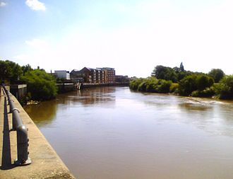 Gainsborough, Lincolnshire - River Trent and new Gainsborough Riverside developments