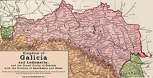 Eastern National Railway (Austria) - Railways lines in Galicia, 1897