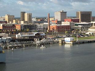 Downtown Galveston in June 2011