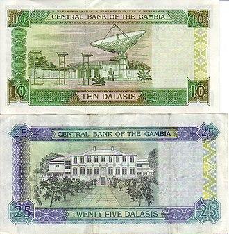 Gambian dalasi - Image: Gambia banknotes 0002