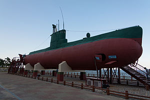 1996 Gangneung submarine infiltration incident - The Sang-O class submarine on display (2012)