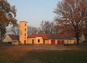Märkisch Luch - Fire station in Garlitz