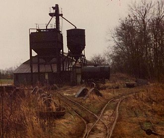Leighton Buzzard Light Railway - George Garside's quarry in 1980, just before industrial rail operations ended