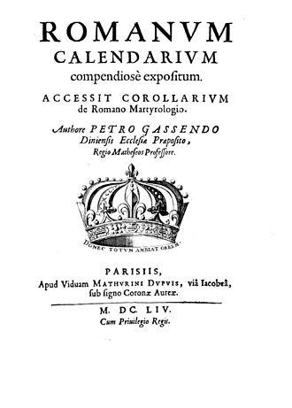 Pierre Gassendi - Romanum calendarium