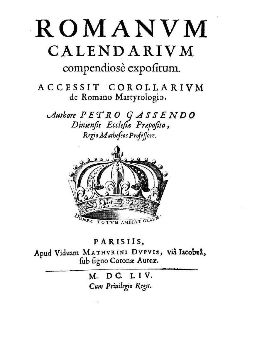 Gassendi - Romanum calendarium compendiose expositum, 1654 - 880721 F.jpeg