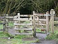 Gate on footpath to Wayoh Reservoir - geograph.org.uk - 399168.jpg
