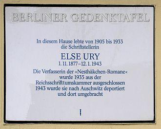 Else Ury - Image: Gedenktafel Kantstr 30 (Charl) Else Ury