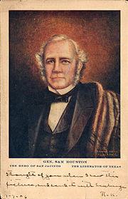 General Sam Houston, the hero of San Jacinto