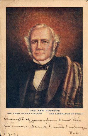 Sam Houston - General Sam Houston (postcard, circa 1905)