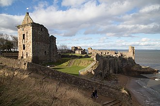 St Andrews Castle - Image: General view of castle from SE
