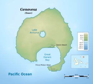 Genovesa Island - Map