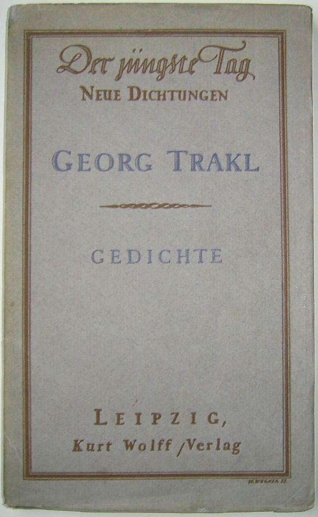 Gedichte Trakl Wikiwand