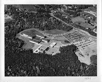 George Mason University - Aerial photograph taken in 1967 showing what was then called George Mason College