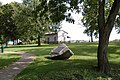 George Rogers Clark cabin reproduction at Clarksville, distant.jpg