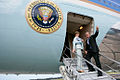 George and Laura Bush board Air Force One.jpg
