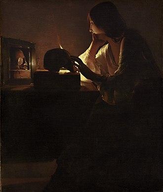 Magdalene at a Mirror - Image: Georges de La Tour 006