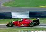 Gerhard Berger - Ferrari 412T1B at the 1994 British Grand Prix (32418634341).jpg