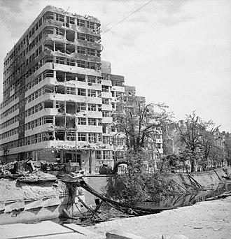Shell-Haus - Damaged Shell House after World War II