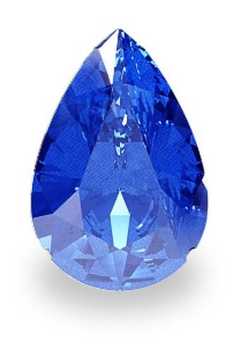 Sapphire - Teardrop-shaped blue sapphire