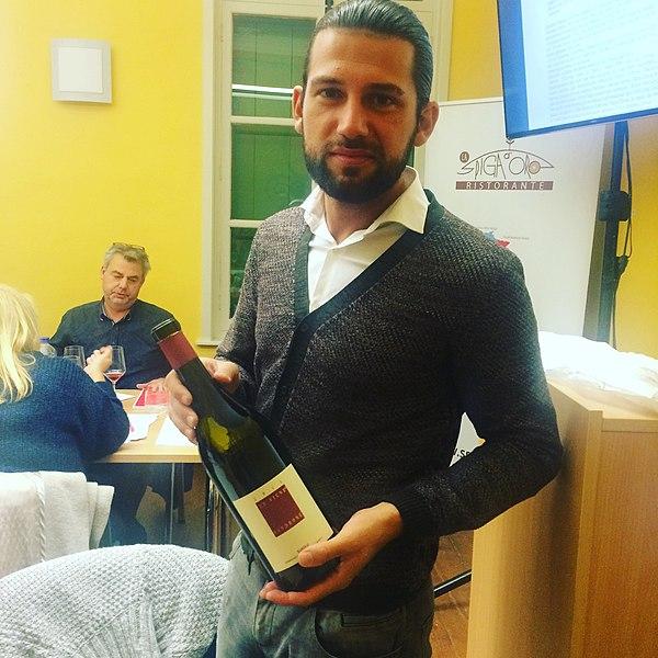 Gianluca Di Taranto. Tijdens een degustatie in mijn zaak