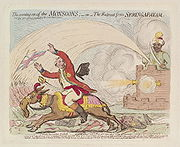 Gillray - The Coming-on of the monsoons - or - the retreat from Seringapatam