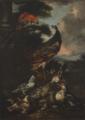 Giovanni Crivelli – Pavone, pappagallo, piccioni, anitra, uva e prugne.tiff