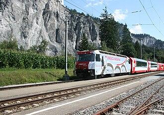 Ruinaulta - Glacier Express in the Rhine gorge